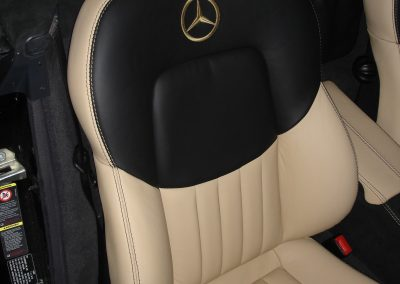 18-mercedes-slk-leather-retrim-seats-embroidered-logo